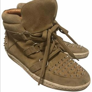 Sandro Albatorock high top sneakers light Brown